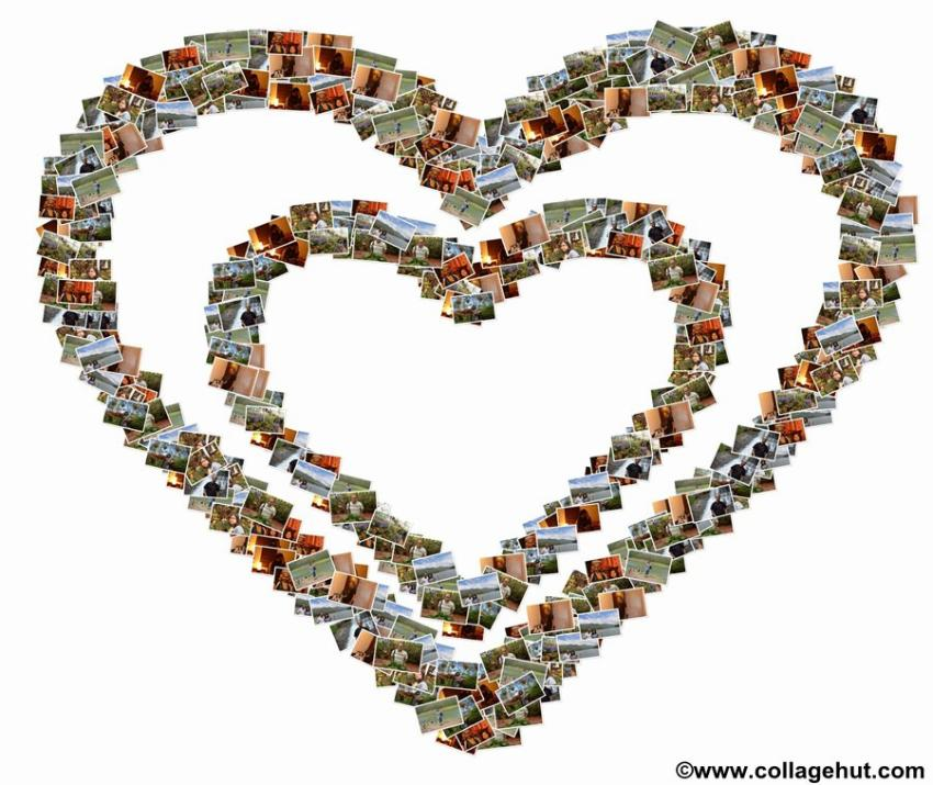 shape collage and word collage are eye catching trendy collages that can be prepared with arranging images in such a manner so the final collage will look - Picture Collages